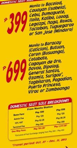 Affordable Airline Tickets in the Philippines by Cebu Pacific 2013