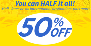 Cebu Pacific Promo Fare 2014: 50% Discount on All International Destinations