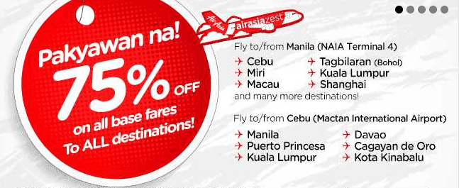 Airline promos and seat sale