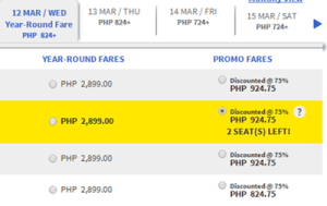 2014 Cebu Pacific 75% Off on All International Destinations for March, April, May