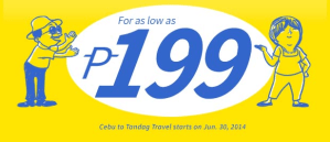 Domestic Promo Fare 2014: August, September, October, November by Cebu Pacific