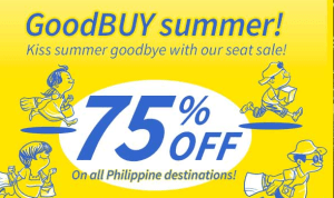 Cebu Pacific 75% Off July, August, September, October, November plus December 2014