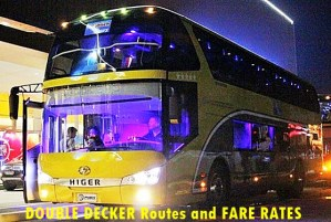 Double Deck Point to Point Bus from SM North EDSA, Trinoma and SM MegaMall to Glorietta 5 Makati