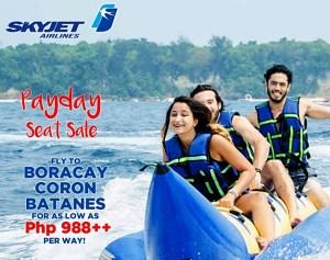 2016 Skyjet Promo to BATANES, Boracay and Coron Palawan