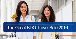 The Great BDO TRAVEL SALE 2016 Venues and Dates