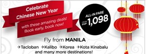 Air Asia Zest Promo 2016: Chinese New Year Seat Sale