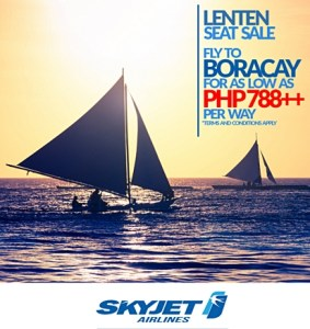 Skyjet Boracay Promo Fare 2016: 788 Pesos Base Fare Tickets on SALE