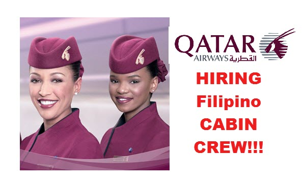 Qatar airways hiring female cabin crew in manila clark cebu for Cabin crew recruitment agency philippines