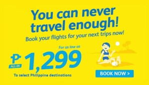 Promo Fares 2017 Offer for January, February, March via CEBU PACIFIC AIR