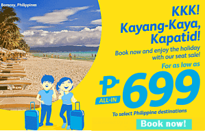 Cebu Pacific Promo Fares 699 Pesos and more