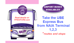 UBE Express Bus routes and schedule airport transfer