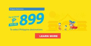 2017 Cebu Pacific Promo Fare: June, July, August