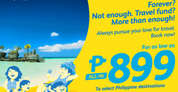 Cebu Pacific Promo 2017 Tickets starting from 899 Pesos and more!!