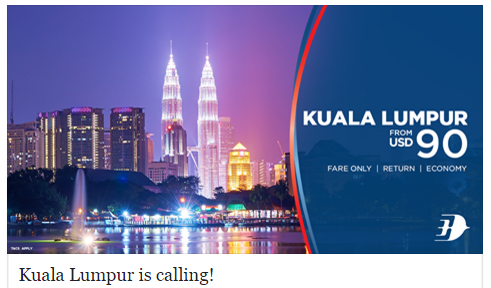 Malaysia Airlines Promo