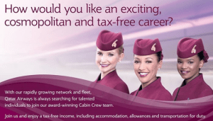 Female Cabin Crew Hiring by QATAR AIRWAYS 2017
