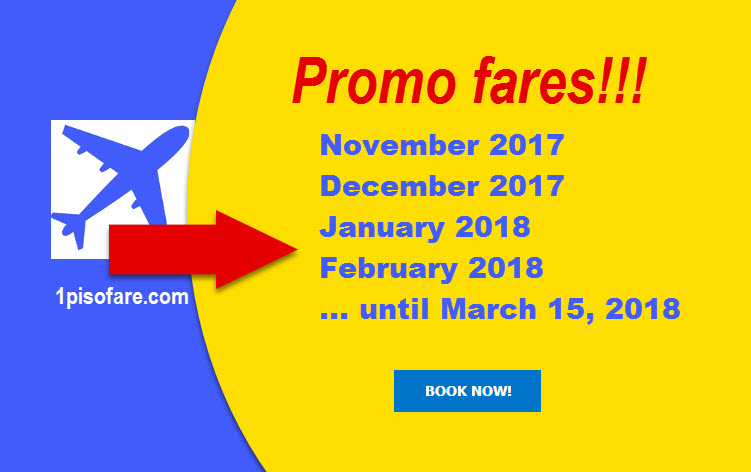 Promo fares november december 2017 january february march 2018