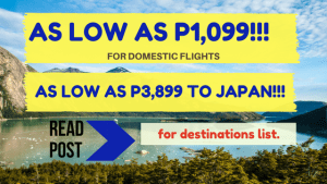 Cebu Pacific Promo Fare Tickets for October, November, December 2017