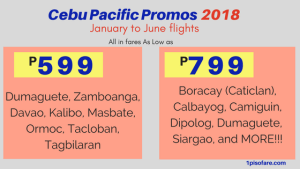 Promo Fare 2018: January up to June