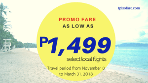 Promo Fares by Cebu Pacific Up to March 2018 Travel Dates