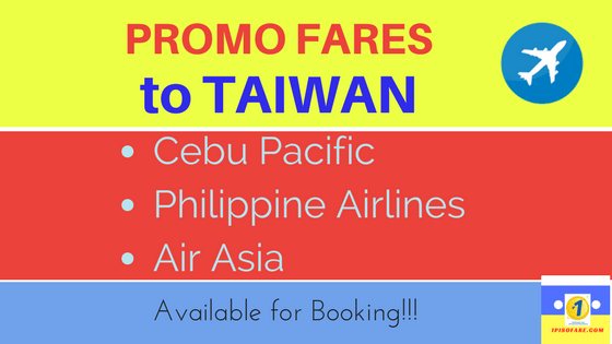 promo fares to taiwan cebu pacific philippine airlines airasia (1)