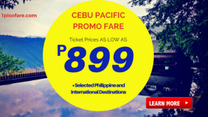 Domestic and International Promo Fare December 2017 to March 2018