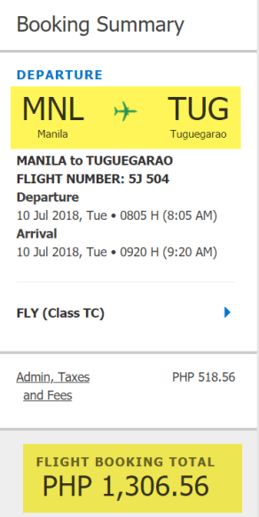 cebu pacific promo to tuguegarao
