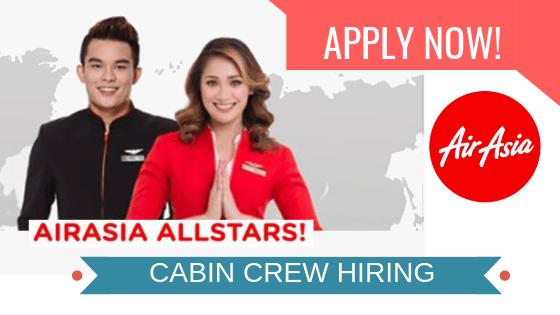 cabin crew hiring in air asia 2018