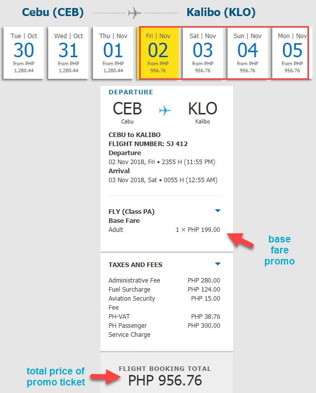 promo cebu to kalibo november 2018