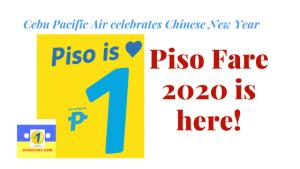 Cebu Pacific Piso Fare 2020 is here!