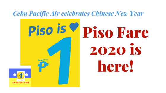 Cebu Pacific Piso Fare 2020 is here!