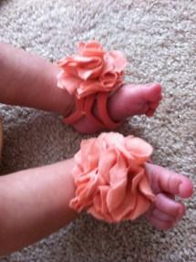 DIY Barefoot Baby Sandals