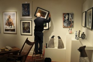 Hanging the Back Gallery