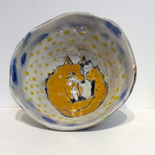 Trudy Skari Sleeping Fox Bowl