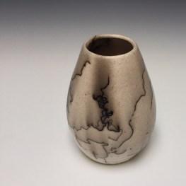 Porcelain Horsehair Raku Vessel by Gregg Edelen