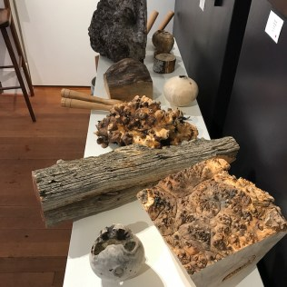 Boyd Carson's wood chunks, burls and tools
