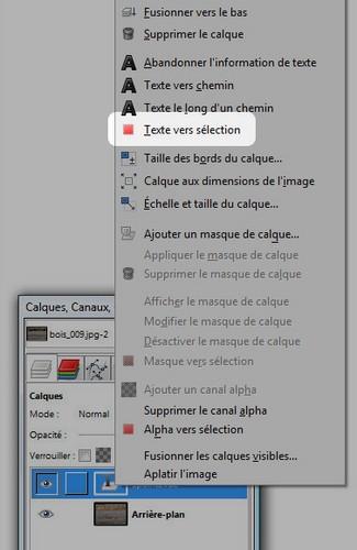 Gimp Texte Le Long D'un Chemin : texte, chemin, Remplir, Texte, Texture, 1point2vue