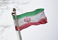 Флаг посольства Исламской Республики Иран