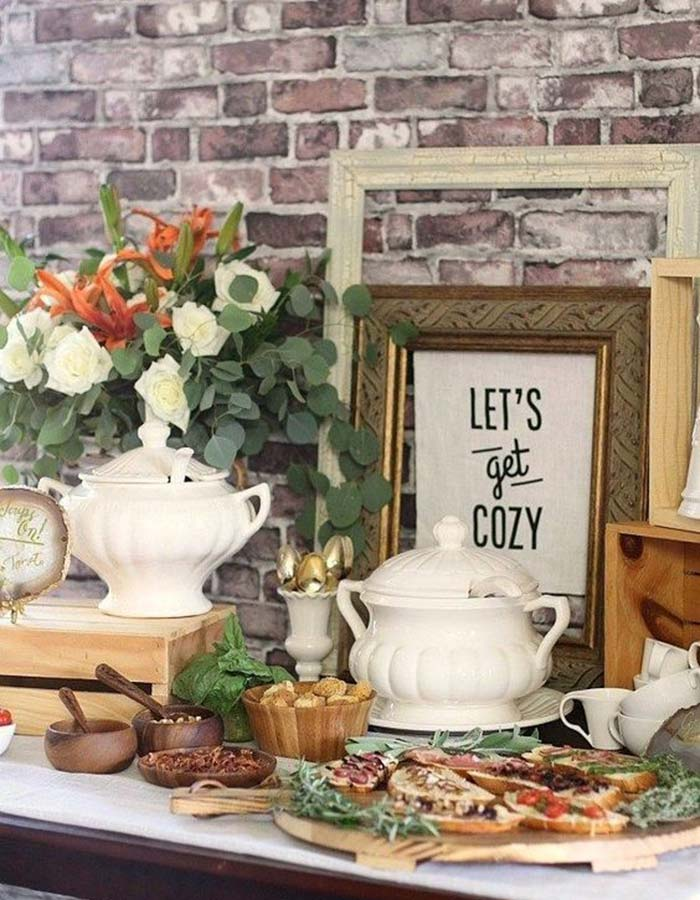 Brilliant Fall Food Stations For Couples Who Are Feeling Festive