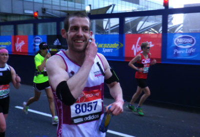 Matt ran the London Marathon for Women's Aid in 2015.