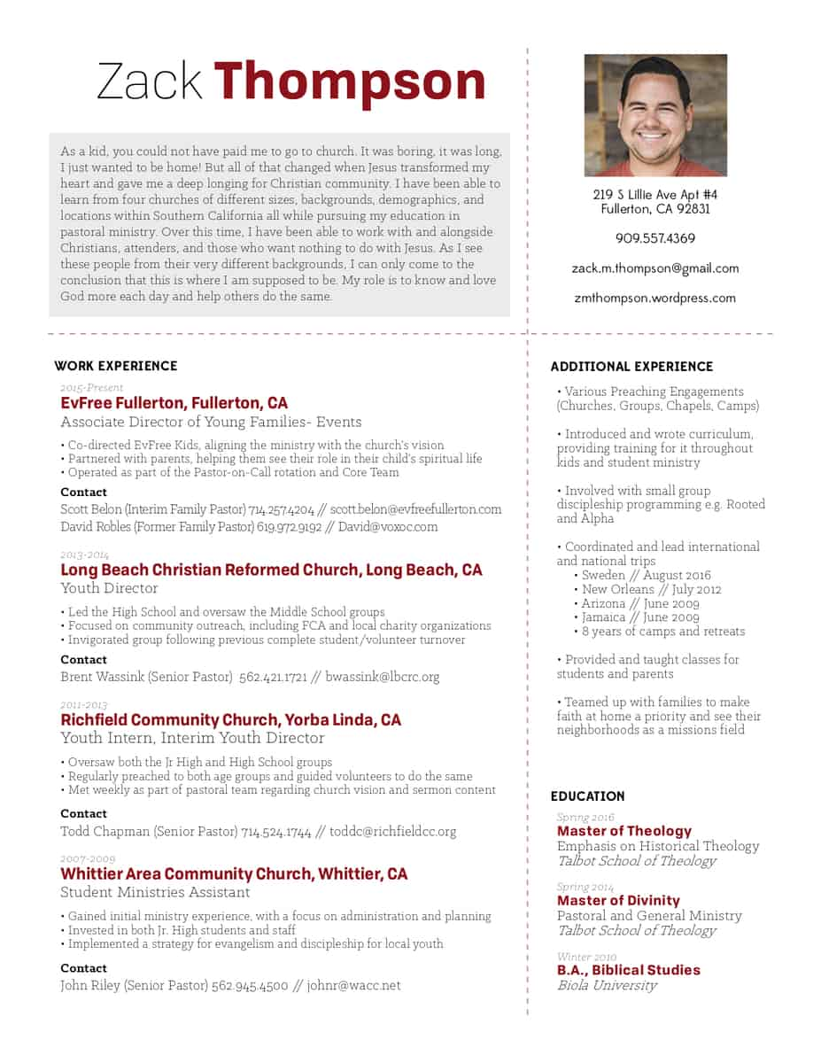 Pastor Resume Examples Great Resumes Xpastor