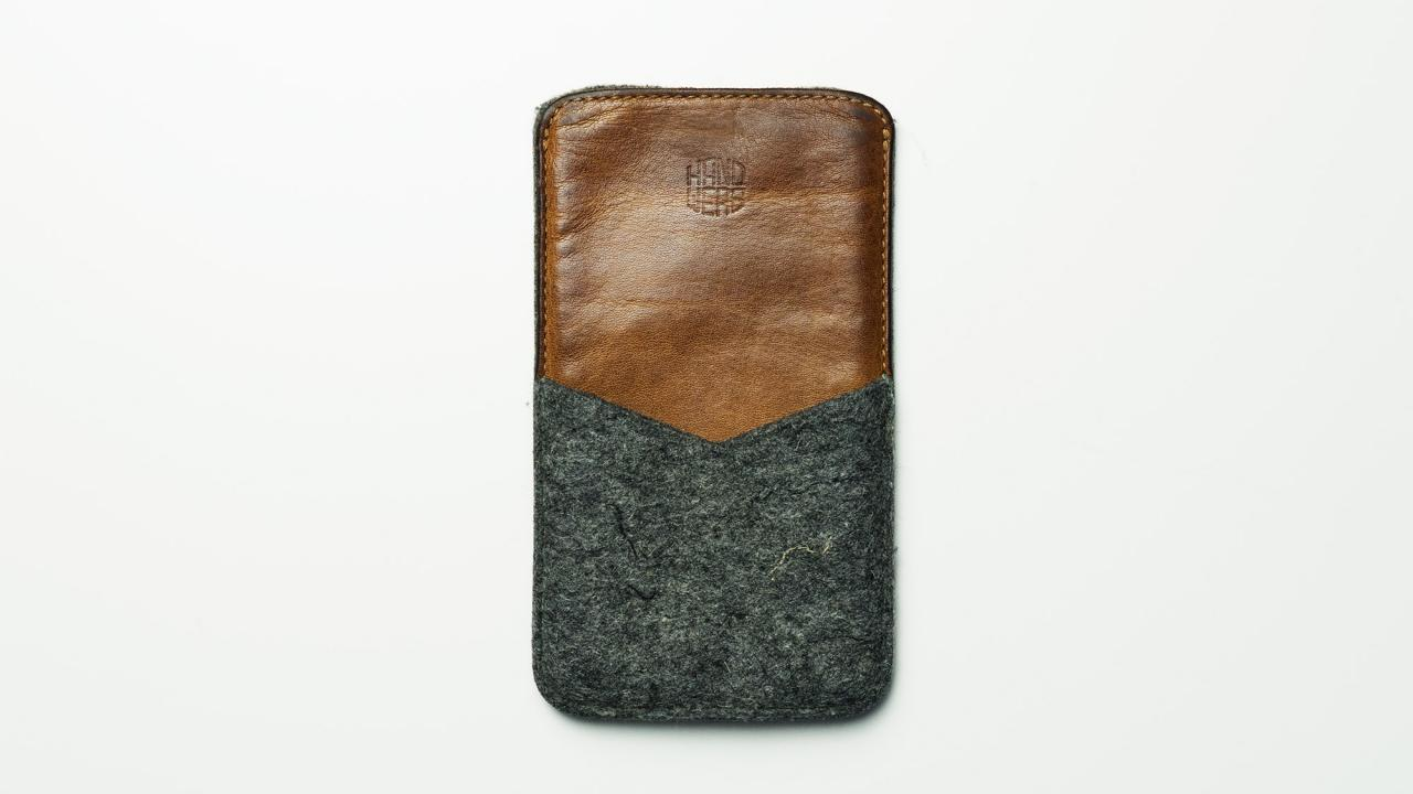 Handwers Leather iPhone X Case