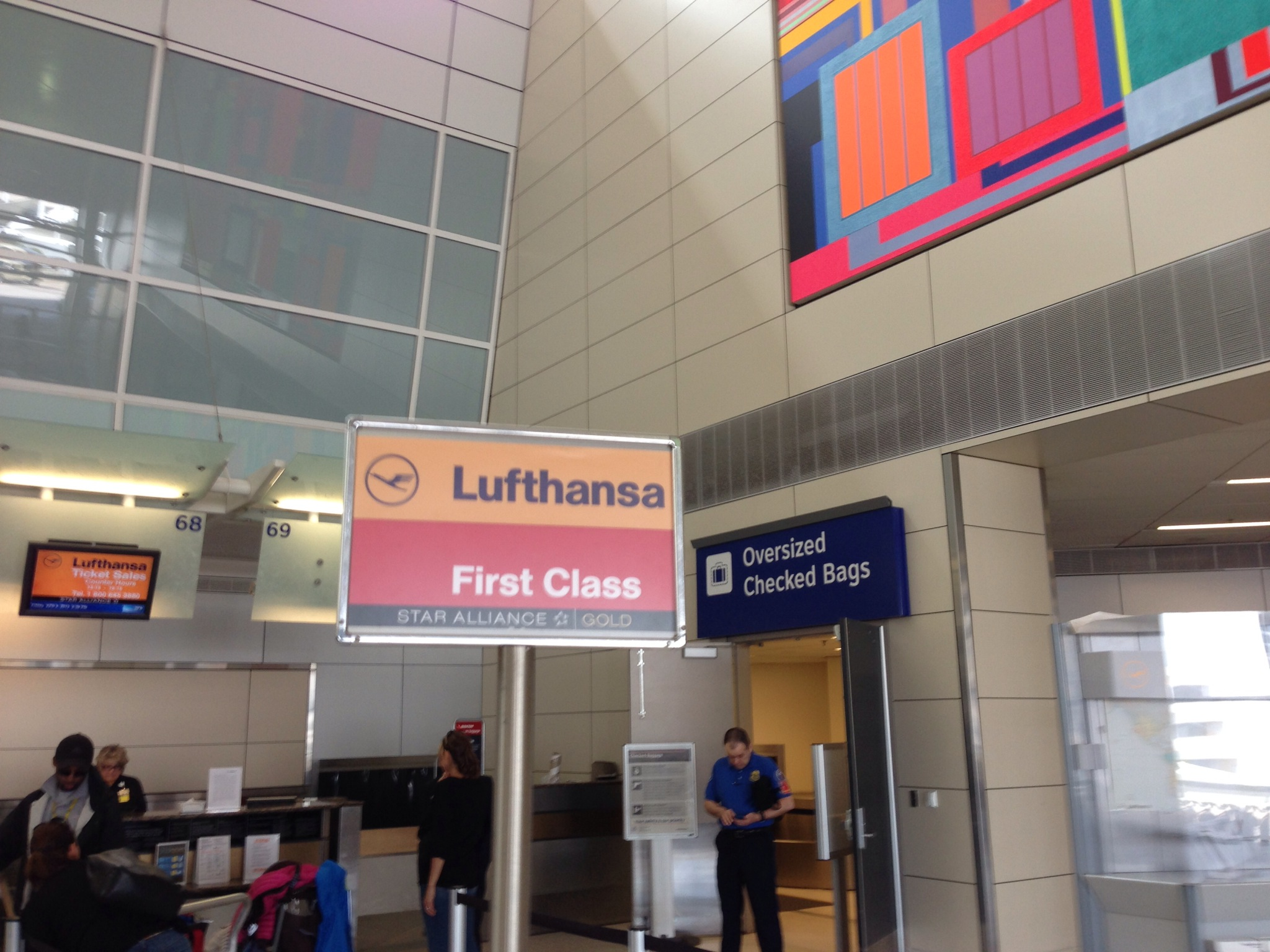 Lufthansa First Class Review DFWFRA  Andys Travel Blog