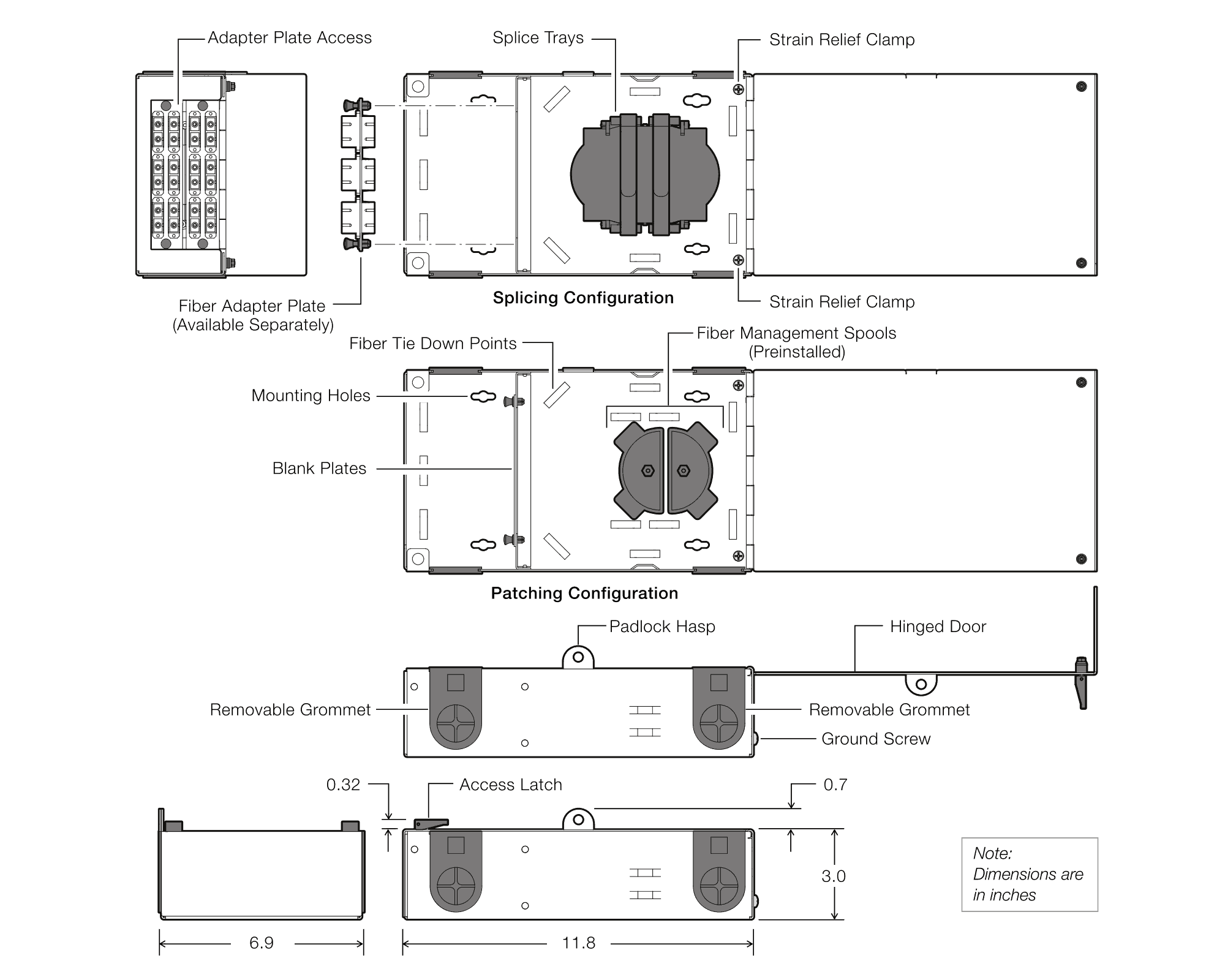 hight resolution of diagrams dimensions components