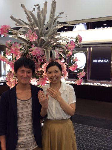 結婚指輪はNIWAKAと決めていました!(田上町・長岡市/K様&N様)
