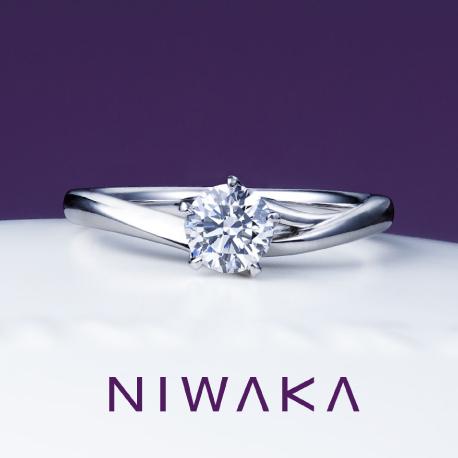俄(にわか)婚約指輪(エンゲージリング) 初桜(ういざくら)画像