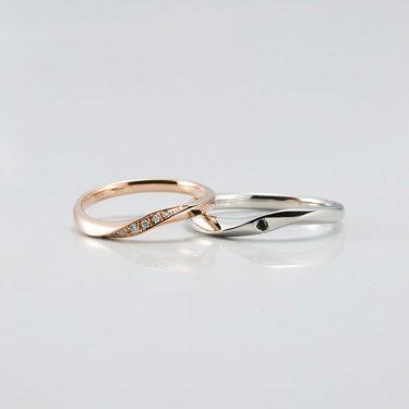 ブラックダイヤが映えるラピュールの結婚指輪をご成約/刈羽村・村上市S様&K様