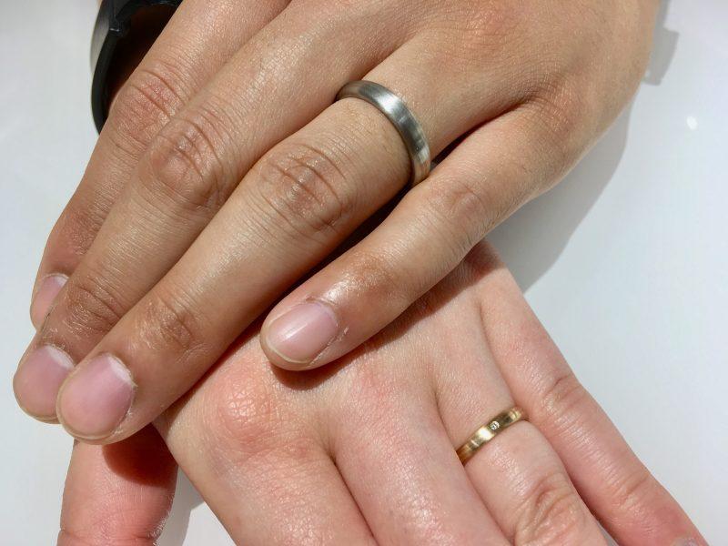 木目模様の結婚指輪