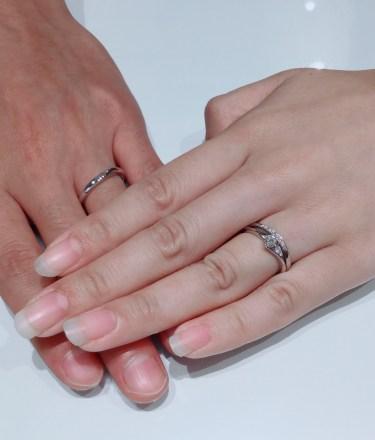 ダイヤモンドの輝きと指輪のラインが決め手|ラザールダイヤモンドのセットリングをご成約。新潟県上越市T様・M様