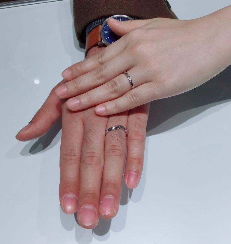 お互いが好きなデザインの結婚指輪