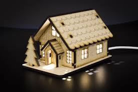 Wooden Christmas Village Houses